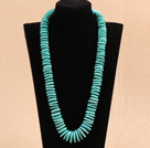 Wholesale 23.6 inches 10-20mm turquoise graduated nekcklace with moonlight clasp