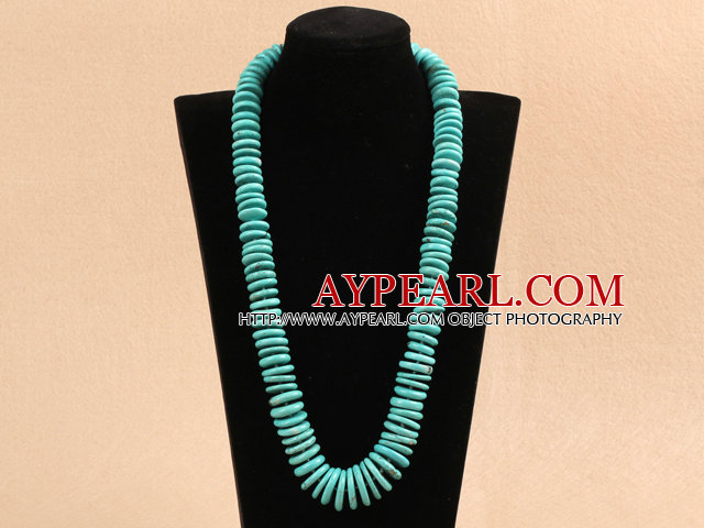 23.6 inches 10-20mm turquoise graduated nekcklace with moonlight clasp