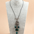17.7 inches turquoise necklace with extendable chain