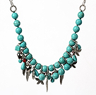 Green Series Single Strand Brazil Irregular Shape Fillet Burst Pattern Agate Knotted Necklace