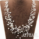 Wholesale Multi Layer White Freshwater Pearl Bridal Necklace