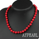 10mm round red bloodstone necklace with spring ring clasp