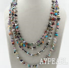 Wholesale Multi Strands Multi Color Stone Chips Necklace