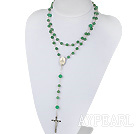 31.5 inces long style 6-8 aventurine rosary necklace