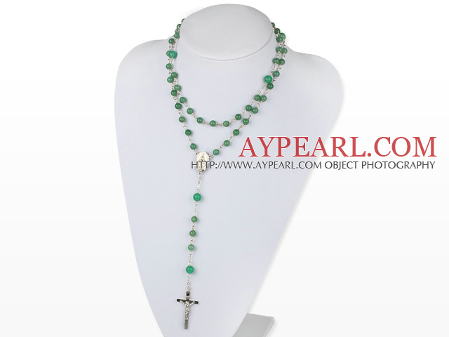 31,5 vinces style long chapelet 6-8 collier aventurine