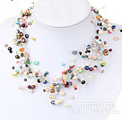 Assorted Multi Color Freshwater Pearl and Multi Stone Fantastic Bridal Necklace