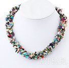 Collier multi-pierre