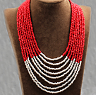 long style 47.2 inches colored glaze and crystal necklace
