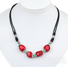 red coral turquoise necklace with extendable chain
