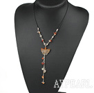 Wholesale beautiful agate Y shaped necklace