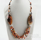 favourite fancy agate white pearl necklace with moonlight clasp