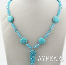 Wholesale Sky Blue Crystal and Turquoise Necklace