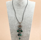 multi strand rainbow flourite chips beaded necklace