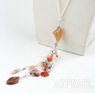 agate de couleur avec lobster clasp fermoir à mousqueton