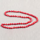 Ny design Branch Shape Red Jasper Halsband med Brown tråd