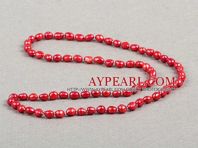 New Design Branch Shape Red Jasper Necklace with Brown Thread