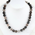 Wholesale 12mm round melt crystal necklace with moonlight clasp