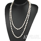 Wholesale fashion long style 47.2 inches 8-9mm white pearl necklace
