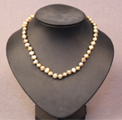 Simple Trendy Style Natural Earthy Yellow Potato Pearl Necklace
