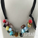 Wholesale Sale Promotion: Assorted Multi Stone Necklace with Black Cord