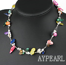 Wholesale 17.5 inches simple multi color pearl necklace