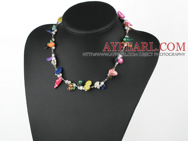 i perle de couleur simple necklace collier