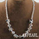 Wholesale 17.7 inches lovely crystal necklace with lobster clasp