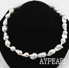 Wholesale Big Freshwater Nucleus Pearl Necklace with Heart Shape Clasp