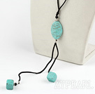 Wholesale 19.5 inches turquoise Y shaped necklace with lobster clasp