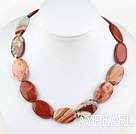 17.5 inches 20*30mm red gem necklace