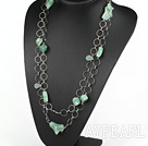 55,1 pouces de mode long collier de style aventurine