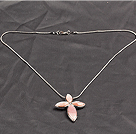 17.7 inches necklace cherry quartze pendant with extendable chain