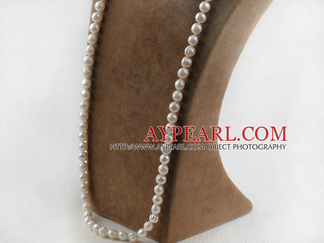 29.5 inches 10-11 mm white fresh water pearl necklace