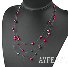 Wholesale fantastic red pearl necklace with lobster clasp