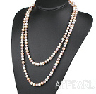 Wholesale fashion long style 47.2 inches 8-9mm three color pearl necklace