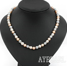 Wholesale noble fashion 17.7 inches three color pearl necklace with moonlight clasp