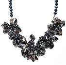 smelt crystal graduated beaded necklace with spring ring clasp