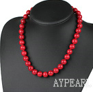 12mm round red bloodstone necklace with moonlight clasp