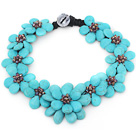 Wholesale 2013 Summer New Design Burst Pattern Turquoise Flower Party Necklace