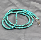 Nice Simple Style Turquoise Beads Lanyards/ Glass Chain