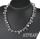 amethyst white crystal necklace