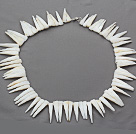 Wholesale Single strand long teeth shape shell necklace