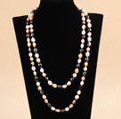 Graceful Long Style Double Strand 8-9mm Natural Multi Color Freshwater Pearl Necklace (Sweater Chain)
