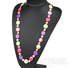 Assorted Multi Color Round Shell Necklace