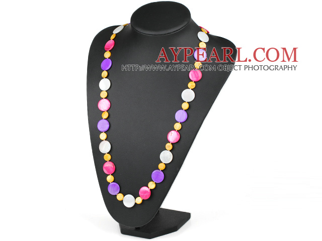 Verschiedene Multi Color Round Shell Necklace