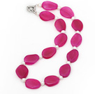 Wholesale 18.5 inches pearl and pink agate necklace