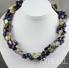 Assorted Multi Strand Multi Stone Necklace