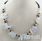 Wholesale Round Garnet and Branch Shape Opal Necklace