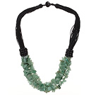 Wholesale Multi Strands Aventurine Chips Necklace