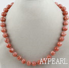 Wholesale 12mm A Grade Natural Sunstone Beaded Necklace
